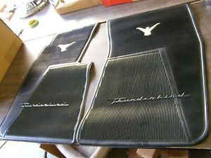 Nos Oem Ford 1958 1959 1960 Thunderbird T Bird Black Rubber Floor Mats Mat Front