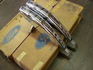 Nos Oem Ford 1970 1971 1972 Maverick Front Bumper Guards Trim Chrome
