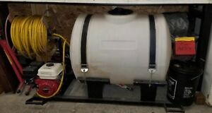 Commercial Sprayer skid Tank Sprayer 200 Gal With Hose Reel And Spraying Wand
