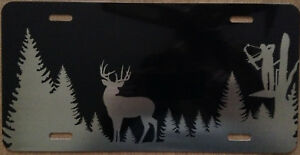 License Plate Deer Bow Hunter Auto Truck Car Tag Aluminum
