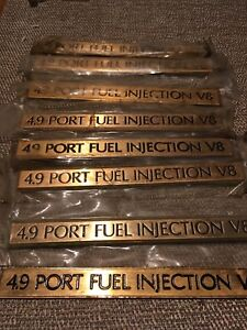 1991 92 93 94 95 Cadillac Gold 4 9 Port Fuel Injection V8 Trunk Emblem Nos