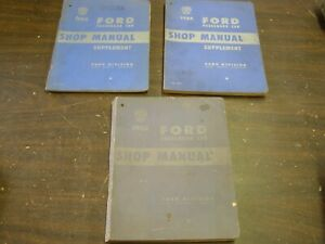 Oem Ford 1952 1953 1954 Shop Manual Book Set Passenger Car Fairlane Mainline