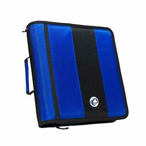 Case it 2 inch Ring Zipper Binder 3 Ring Blue For Calculator Or Other Stuff 1 Pc