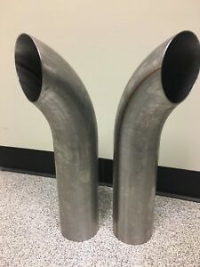 4 X 18 304 Stainless Steel Exhaust Stacks Pair