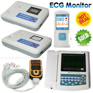 Us Seller Fda Ecg Machine Ekg Monitor Portable Lcd Electrocardiograph printer