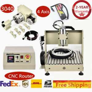 Generic Cnc3040 4axis Router Engraver Engraving Machine Water cooling System rc