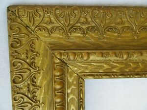 Antique Fits 16 X 20 Gold Gilt Picture Frame Deep Wood Gesso Ornate Fine Art