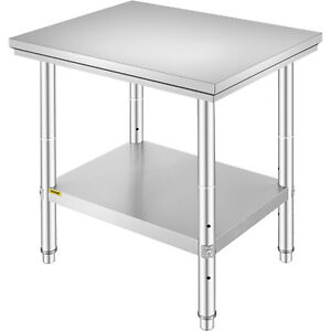 Stainless Steel Work Table Commercial Kitchen Prep Bench Table 30 X 24