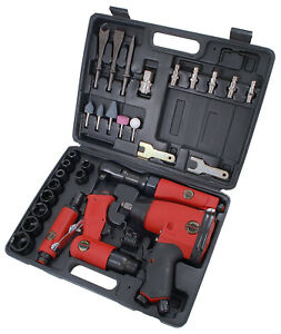 Ct1091 1 2 Dr Air Tool Kit Ratchet Impact Wrench Die Grinder Hammer Sockets
