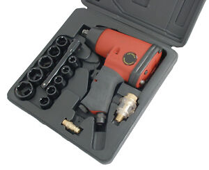 Ct0680 17pc 1 2 Drive Pistol Grip Air Powered Impact Wrench Kit With Sockets