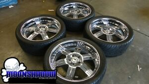 Asanti Af 117 24 Chrome Wheels Rims Tires Dodge Ram 24x9 5 5x5 5 Forgiato