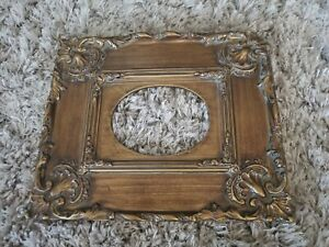 Gorgeous Antique Vintage Ornate Gold Gilt Gesso Plaster Picture Frame Photo