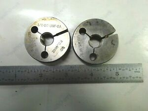 Set Of Usa Made Gage Assembly 1 2 20 2a Thread Ring Gages