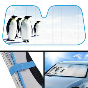 Penguins Car Auto Sun Shade Window Windshield Visor Cover Truck Suv Protection
