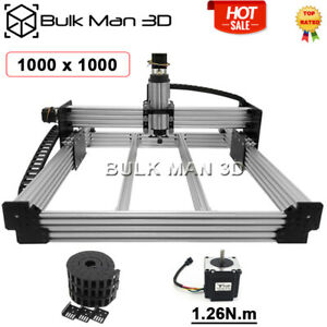 1000 1000mm 4axis Workbee Cnc Router Wood Engraver Machine Kit Cable Chain Kit