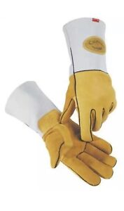 6 Pair Large Caiman Mig Stick Welding Glove 1858 Elk Skin Kontour Welder Gloves