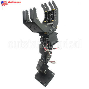 Diy 6dof Robot Mechanical Arm Hand Clamp Claw Manipulator Frame For Arduino Us