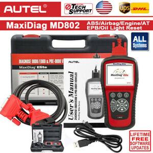 Md802 X431 Vii Crp123 Obd2 Diagnostic Tool Car Scanner Engine Oil Reset Abs Srs