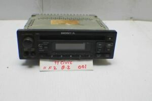 1999 2000 Honda Civic Coupe Audio Radio Am Fm Control 39100s02a00 Box2 01 11f2