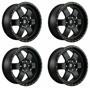 Set 4 20 Fuel Podium D618 Satin Black Wheels 20x9 6x5 5 01mm 6 Lug Truck Rims