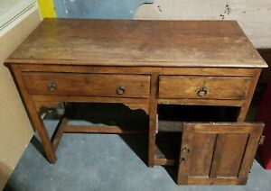 Antique Authenticly Distressed Kids Desk 18 1 2 In Deep And 42 1 2 In Wide