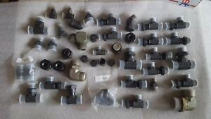 Lot Of Parker Hydraulic Fittings Hose Ends Elbow Lot 2