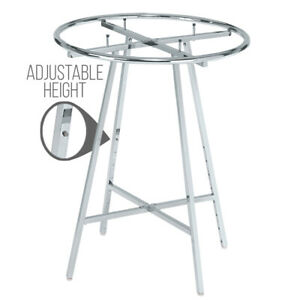 Round Clothing Rack Adjustable Height Chrome