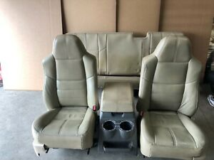 Ford F250 F350 Super Duty Truck Ext Cab Lariat Front And Rear Leather Seats