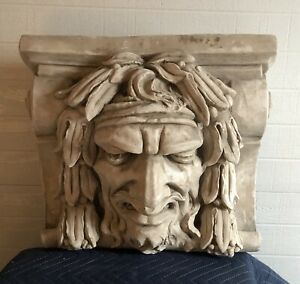 Large Bacchus Sad Tragedy Face Corbel Architectural Accent Reproduction