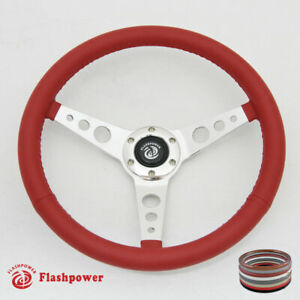 15 Classic Steering Wheel Red Chevy Gmc Impala Gto W Horn