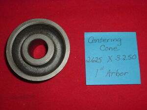 Used Centering Cones 2 625 X 3 250 Fits 1 Arbor Brake Lathes Made In Usa