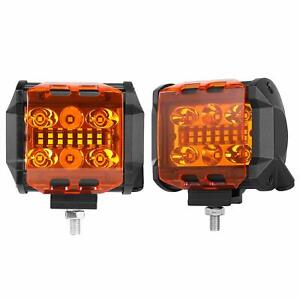 3 Led Cube Covers Amber Fog Lights Protective Polycarbonate Light Lens Covers