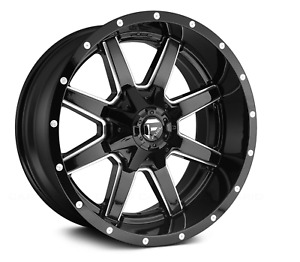 20 Fuel D610 Maverick Gloss Black With Milled Accents Wheels Set Of 4