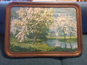 Large Antique Art Deco Rounded Picture Frame Fits 22 X 32