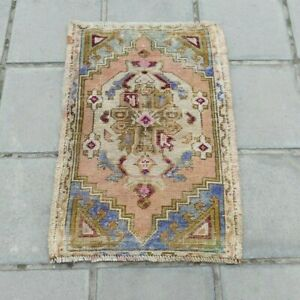 Small Turkish Rug Oushak Rug Antique Wool Vintage Hand Knotted Rug 1 6 X2 5