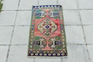 Small Turkish Rug Oushak Rug Antique Wool Vintage Hand Knotted Rug 1 5 X2 9