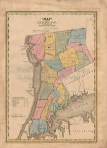 Westchester County New York Antique Map Burr 1829 Original