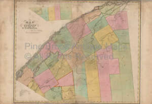 St Lawrence County New York Antique Map Burr 1829 Original