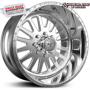 American Force Atom Ss8 Polished 24 x12 Truck Wheels Rims 8 Lug set Of 4