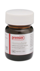 20cc Premier Hemodent Buffered Hemostatic Solution Topical Application