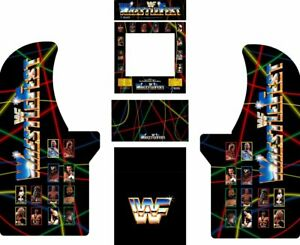 Arcade1up Arcade Cabinet Graphic Decal Complete Kits WrestleFest $159.99