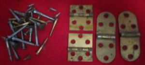Singer Treadle Sewing Cabinet Hinges And Screws 1900 Brass