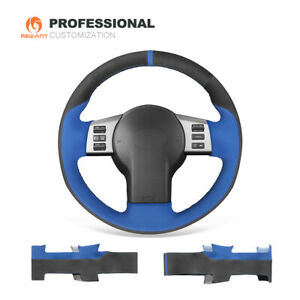 Black Blue Synthetic Suede Car Steering Wheel Cover For Infiniti Fx Fx35 Fx45