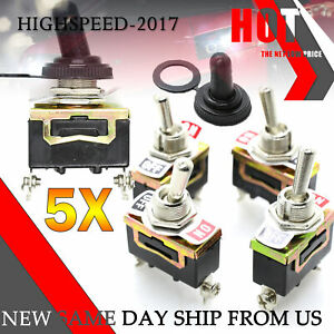 Toggle Switch Heavy Duty 20a 125v Spst 2 12volt On off Car Waterproof Boot Atv