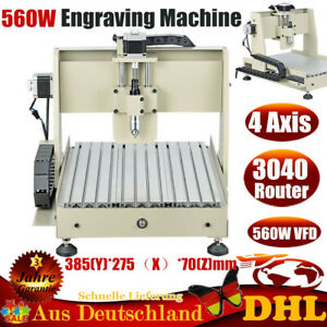 560w Vfd 4 Axis 3040 Cnc Router Engraver Engraving Machine Woodworking Pcb Caver