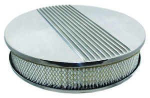 14 X 3 Classic Polished Aluminum Finned Air Cleaner Assembly Drop Base 4 Brl