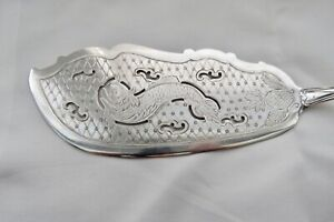 American Coin Silver Fish Slice Server 1800 S Decorated Bright Engraved 11 3 4