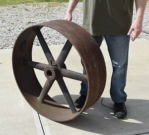 Large Antique Fly Wheel For Steam Engine Tractor