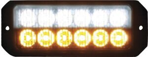 Buyers 8891702 12 Led Amber clear Mini Strobe Light Surface Mount