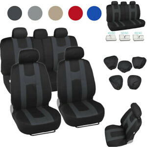 Car Seat Covers For Auto Suv Truck Front Rear Full Set Split Bench Compatible